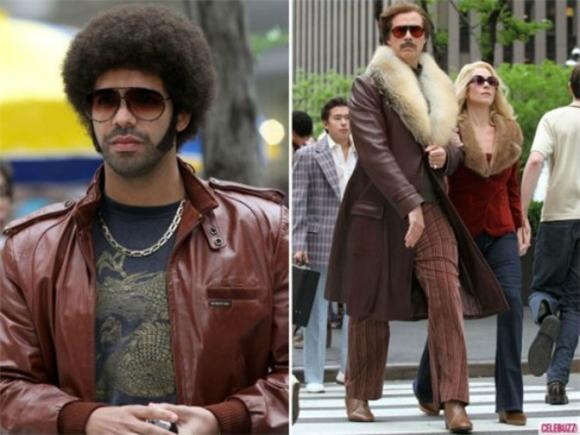 Drake Gets an Afro and Kanye Gets Hostile In Anchorman 2 Stills