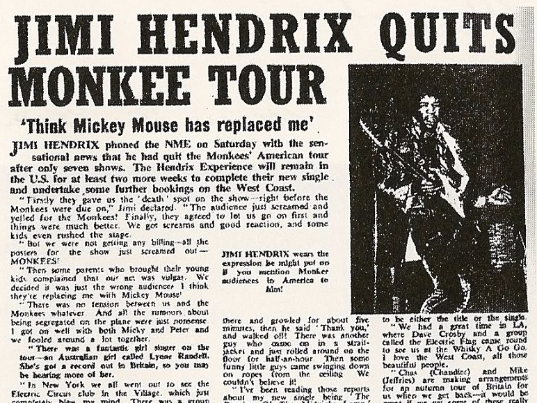 REMINISCENT MONDAY: Jimi Hendrix Monkees Around