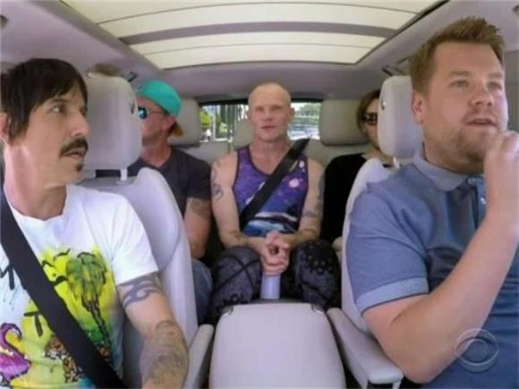 Anthony Kiedis Saves Infant From Certain Death During Carpool Karaoke