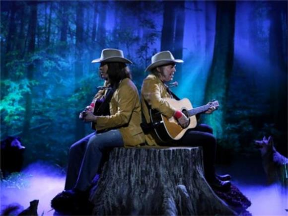 Watch 'Two Neil Youngs Sitting on a Tree Stump'