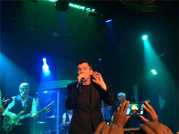 Rick Astley Plays the Hits and New Cuts at the Box