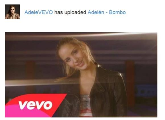 WTF of the Day: VEVO Confuses Adele for Adelen