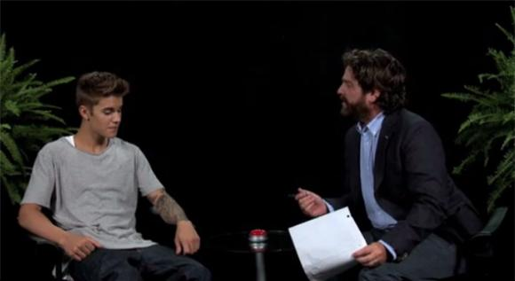 Zach Galifianakis Whipped Justin Bieber on Between Two Ferns