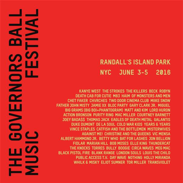 governor's ball 2016 lineup